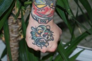 FAVORITTEN: Brudvik har en rekke tatoeringer, men dette er den fremste favoritten. Foto: Elin B. Øvrebø
