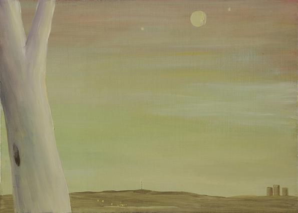 Bente Louise aas, melankoli olje på plate 24,5x 30