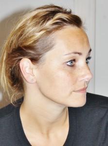 Frisørgründer Gina Fjeld gir gjerne bort tips til andre med en gründer i magen