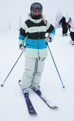 Jeanett Enger liker seg på fjellet om vinteren