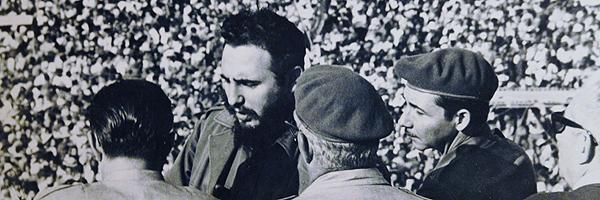 Fidel på Revolusjons plassen den dagen han tok over etter Basista