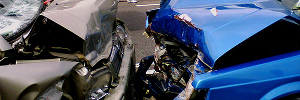 34 prosent av ulykkene er frontkollisjoner. <i>Illustrasjonsfoto.</i>